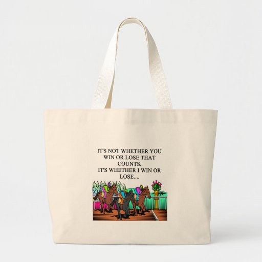 horse racing derby jumbo tote bag