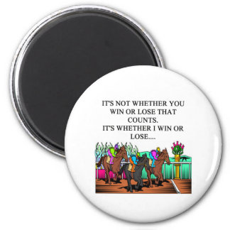 horse racing derby magnet