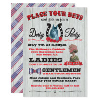 Horse Racing Derby Party Poster Invitation