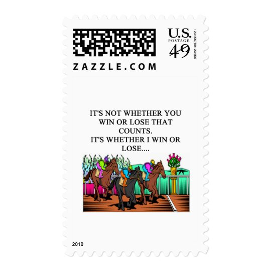 horse racing derby postage