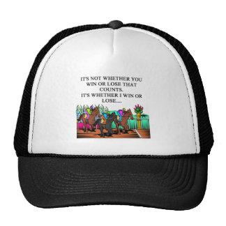 horse racing derby trucker hat