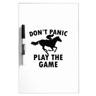 horse Racing design Dry Erase Board