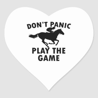 horse Racing design Heart Sticker