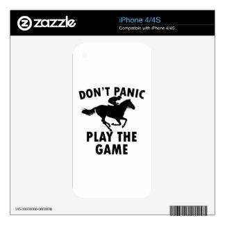 horse Racing design iPhone 4S Decals