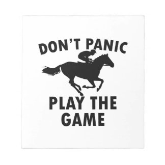 horse Racing design Note Pads