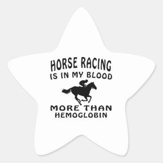 Horse Racing Design Star Sticker