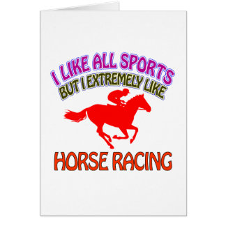 Horse racing designs cards