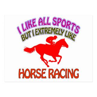 Horse racing designs postcard