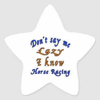 Horse Racing Designs Star Sticker
