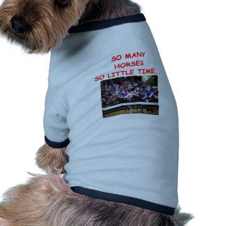 horse racing dog clothing