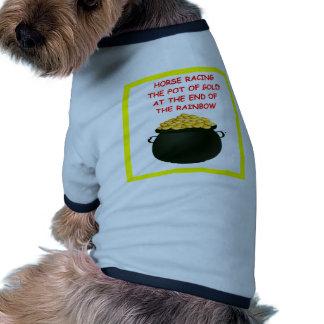 horse racing dog shirt