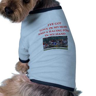 horse racing doggie tshirt