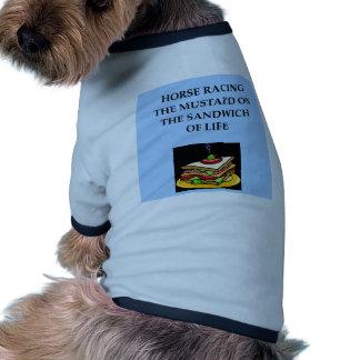 horse racing dog t shirt