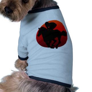 horse racing doggie shirt