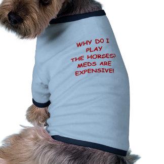 horse racing doggie t shirt