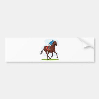 horse racing equestrian sport bumper sticker
