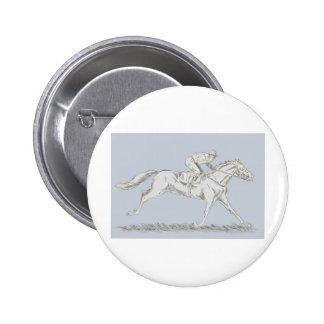 horse racing equestrian sport button