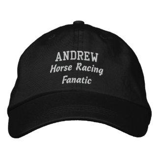 Horse Racing Fanatic Custom Name A01 Baseball Cap