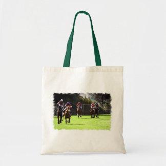 Horse Racing Field Budget Tote Bag