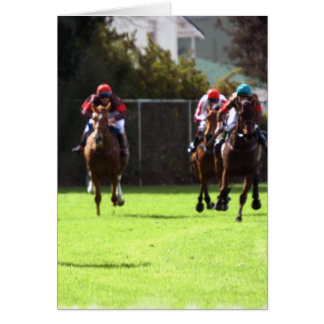 Horse Racing Field Greeting Card