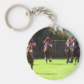 Horse Racing Field Keychain