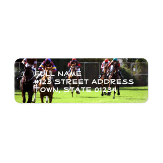 Horse Racing Field Mailing Labels