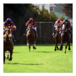 Horse Racing Field Poster Print
