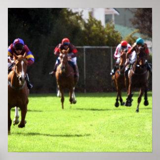 Horse Racing Field Poster Print