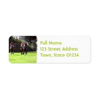 Horse Racing Field Return Address Label