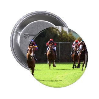 Horse Racing Field Round Button
