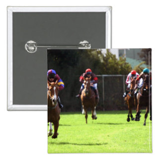 Horse Racing Field Square Pin