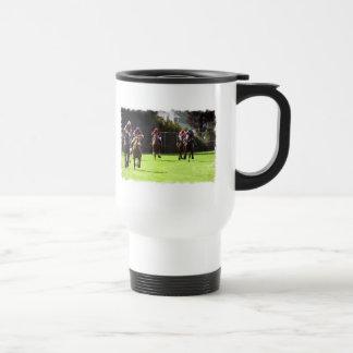 Horse Racing Field Travel Mug