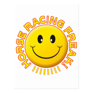 Horse Racing Freak Smile Postcard