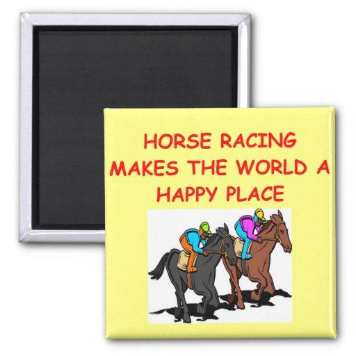 horse racing fridge magnets