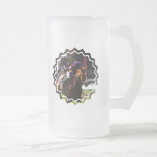 Horse Racing Frosted Beer Mug
