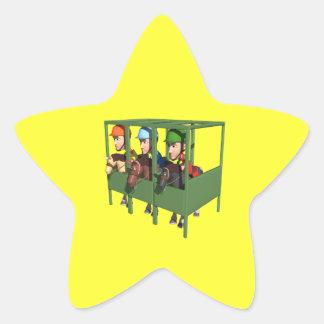 Horse Racing Gate Star Sticker