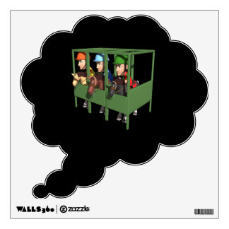 Horse Racing Gate Wall Decal