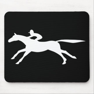 horse racing icon mouse pad