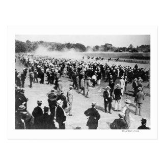 Horse Racing in Saratoga Photograph Postcard