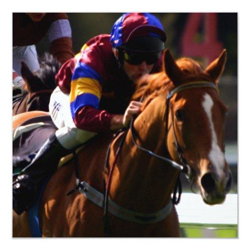 """Horse Racing Invitation 5.25"""" Square Invitation Card"""