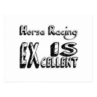 Horse Racing Is Excellent Postcard