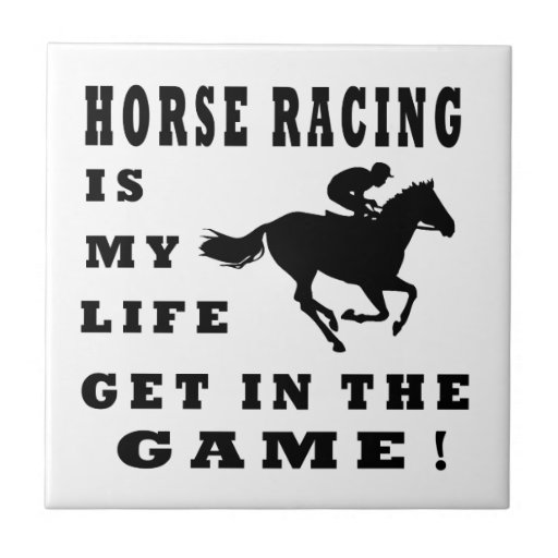 Horse Racing Is My Life Small Square Tile