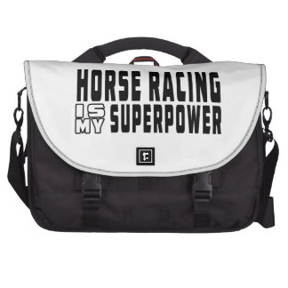 Horse Racing is my superpower Laptop Bag
