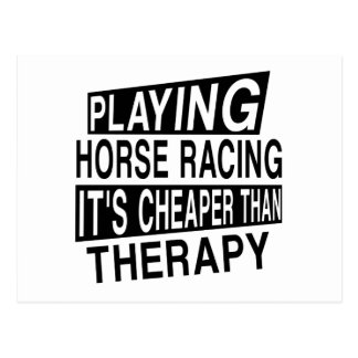 HORSE RACING It Is Cheaper Than Therapy Postcard
