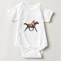 Horse Racing Jockey and Horse Baby Bodysuit