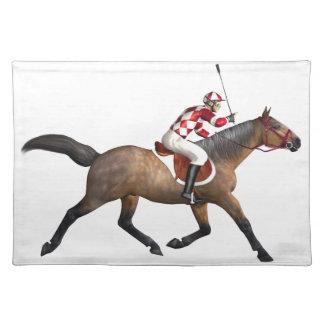 Horse Racing Jockey and Horse Cloth Placemat