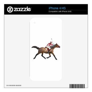 Horse Racing Jockey and Horse iPhone 4 Decal