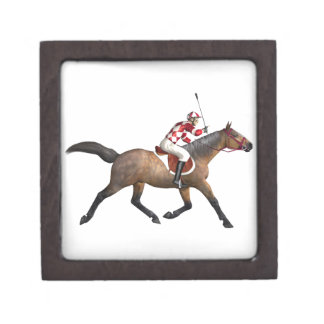 Horse Racing Jockey and Horse Jewelry Box