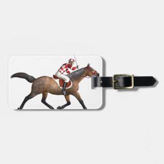 Horse Racing Jockey and Horse Luggage Tag