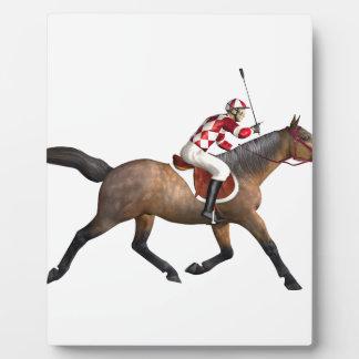 Horse Racing Jockey and Horse Plaque